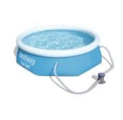 Bestway Zwembad Fast Set rond - met filterpomp - 244x66cm