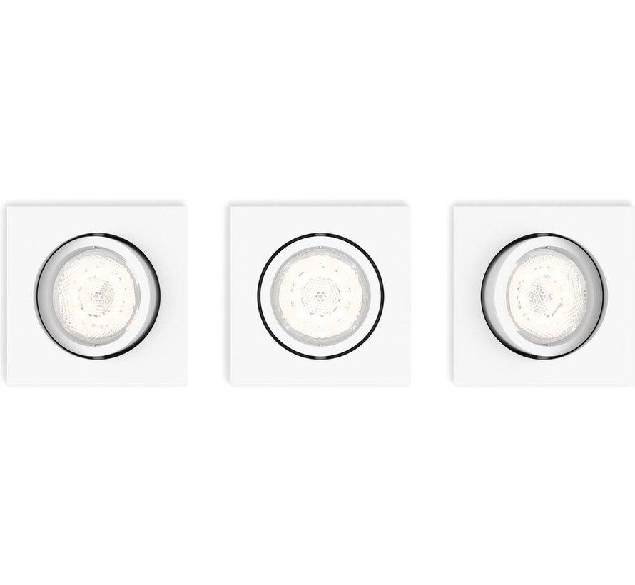 MyLiving LED Casement Inbouwspot Wit 4,5W (set van 3)