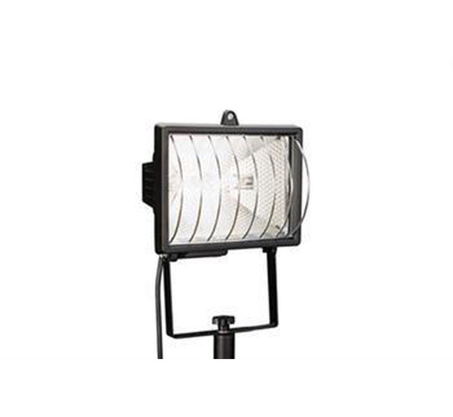 Sokkel / paal halogeenstraler - Buitenlamp  Straler Zwart
