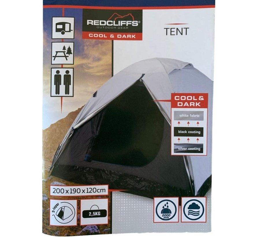 Ruime 2-persoons tent - met reflecterende buitenlaag- 200x190x120cm
