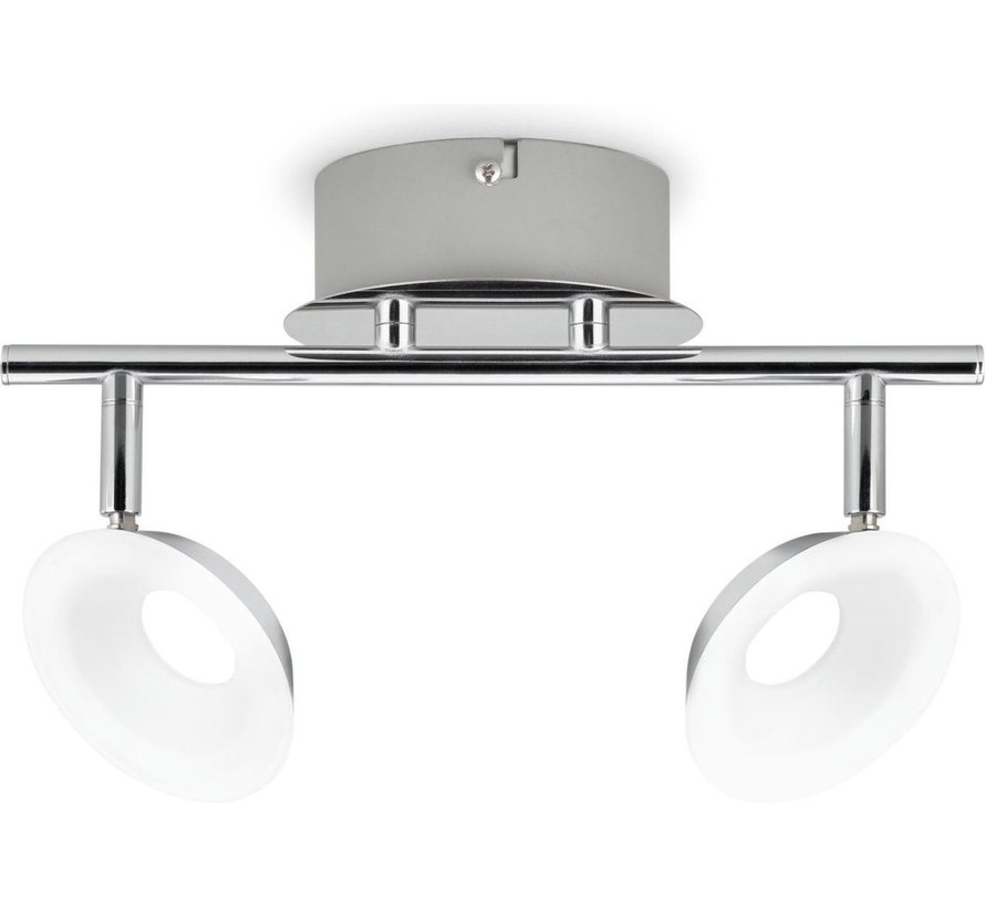 MyLiving LED Mackinaw plafondlamp - chroom 5W (2-spots)