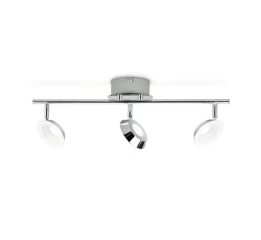 MyLiving LED Mackinaw plafondlamp - chroom 5W (3-spots)