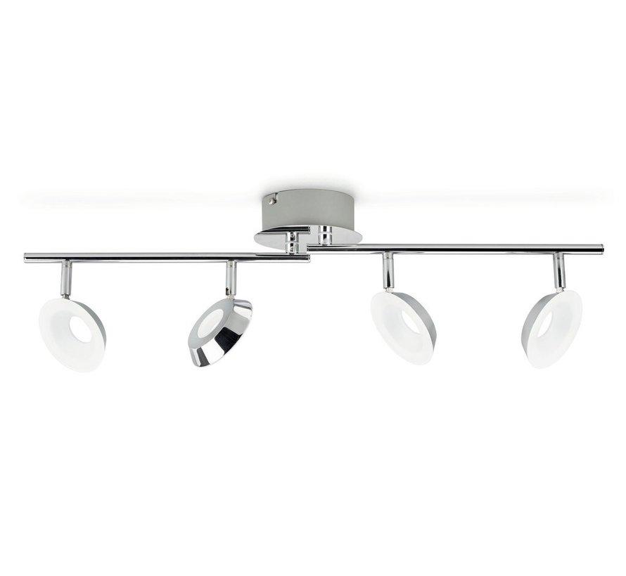 MyLiving LED Mackinaw plafondlamp - chroom 5W (4-spots)