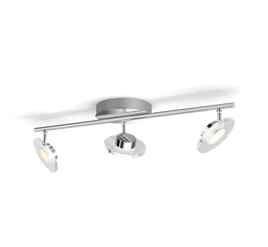 MyLiving - Glissette - 3-spots LED plafondlamp - chroom 4,5 Watt