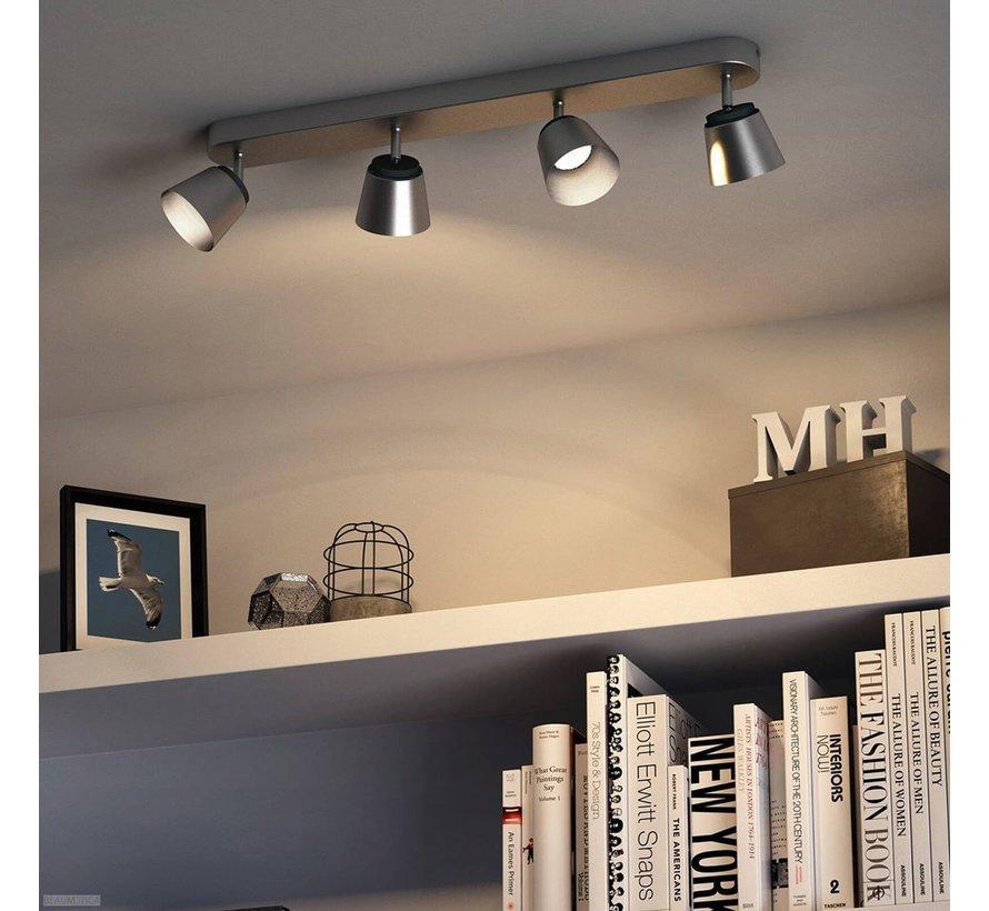 MyLiving LED Dender plafondlamp - mat chroom 4W (4-spots)
