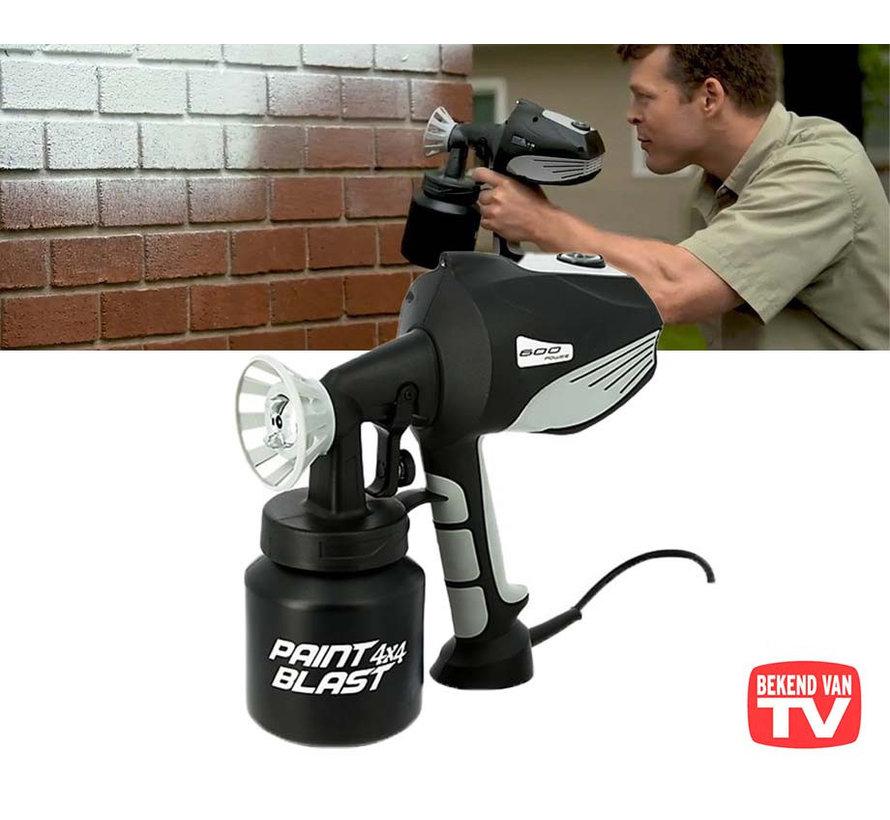 Elektrisch Verfpistool - verstelbare sproeikop - 600W - LED - Bekend van TV