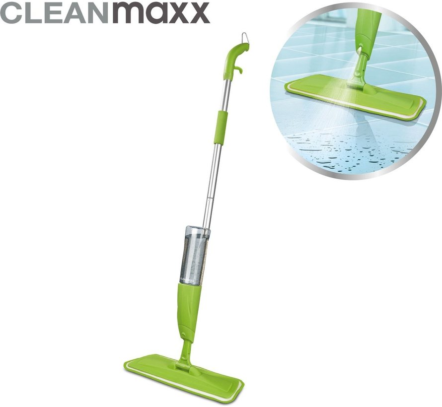 Spray Mop - vloerreiniger / vloerwisser met sproeikop - 600ml tank - groen