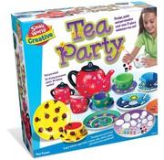 Creative Tea Party - Ontwerp en schilder je eigen thee setje! 17-delige set