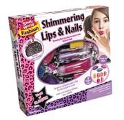 Creative Shimmering Lips & Nails - Glinsterende lippen en Nagels + etui
