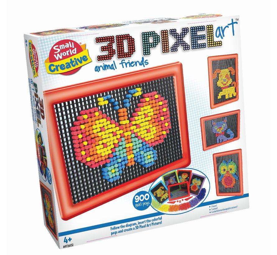 3D Pixel Art Animal Friends - 3D pixelkunst dierenvrienden