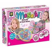AMAV Mosaikit - Butterfly & Heart Box - Maak je eigen mozaiek harten- en vlinderdoos