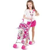 Dimian Luxury Pets - Trendy Buggy met pluche hond voor kinderen