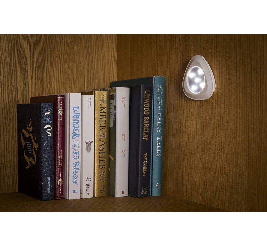 Draadloze Witte LED lampen set incl. afstandsbediening (4-delig)