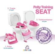 Babyloo Bambino 3in1 - Plaspotje - Trapje - WC Verkleiner - Roze Meisjes