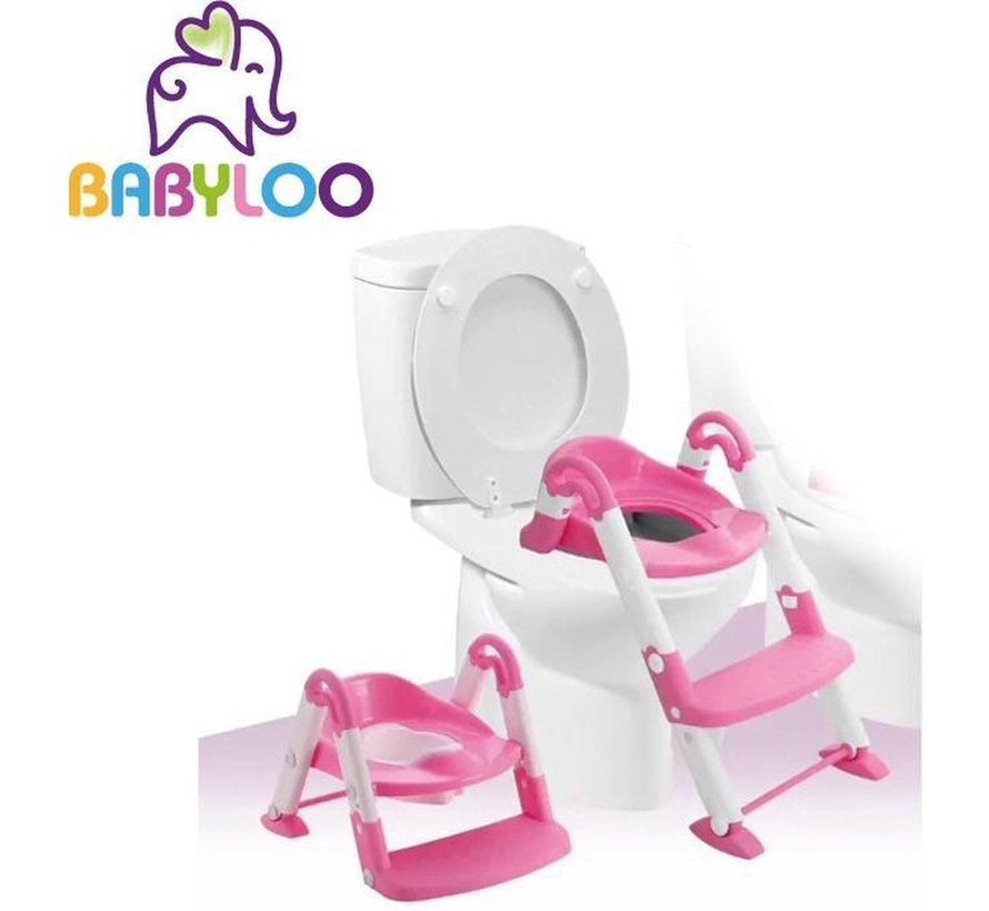 Bambino 3in1 - Plaspotje - Trapje - WC Verkleiner - Roze Meisjes