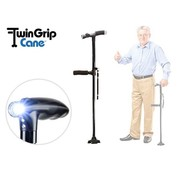 Bekend van TV Twin Grip Cane - inklapbare wandelstok - LED lamp - Opvouwbaar