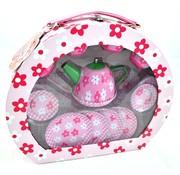 Braet Theeservies met bloemmotief - Theeset voor kinderen roze