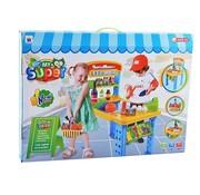Kiddoo Speelgoed winkeltje - supermarkt met winkelmandje