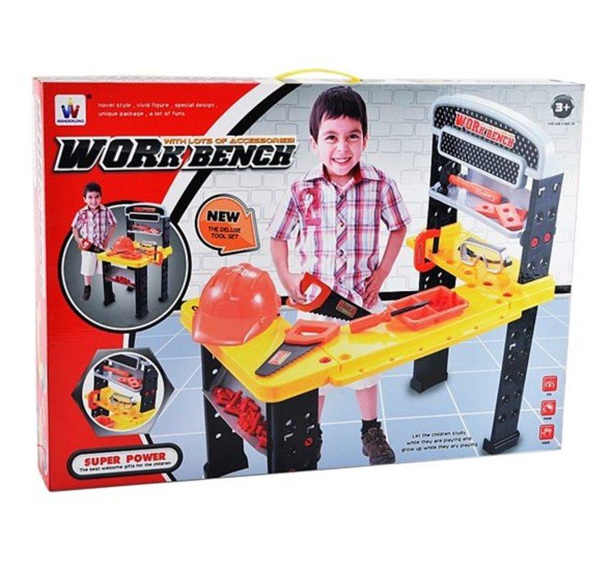 Kinder Werkbank met Gereedschap