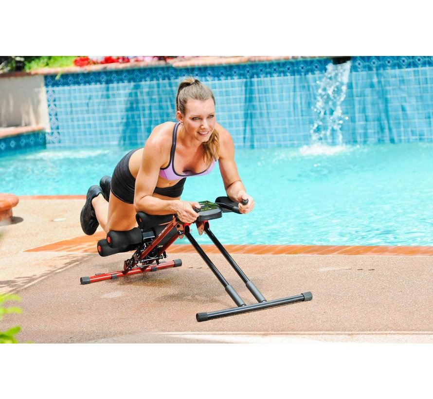 Pro - Buikspiertrainer - Buikspierbank verstelbaar - Fitnessapparaat - Core trainer