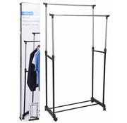 Storage Solutions Dubbel kledingrek - verrijdbaar - in hoogte verstelbaar 90 tot 160cm