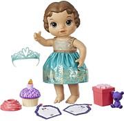 Hasbro Baby Alive - Cupcake birthday Baby - Verjaardags Babypop (bruin haar)