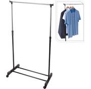Storage Solutions Kledingrek - verrijdbaar - in hoogte verstelbaar 90 tot 160cm