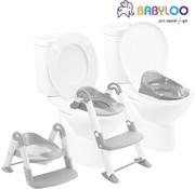 Babyloo Bambino 3in1 - Plaspotje - Trapje - WC Verkleiner - Grijs