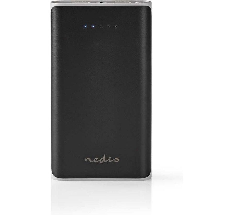 Powerbank - 15000 mAh - 2x USB-A poorten - zwart