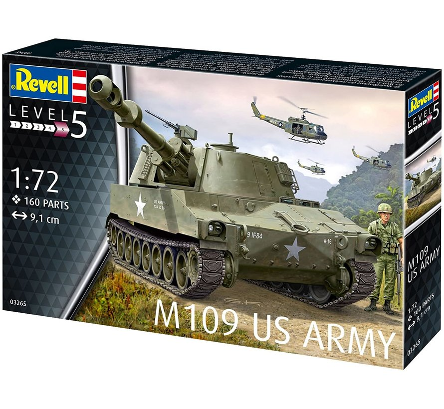 M109 US Army - 1:72 - Level 5 - 160 delig - nr 3265