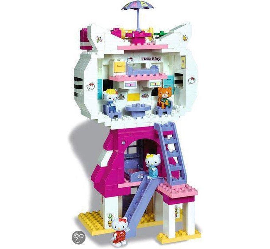 Hello Kitty - Kattenhuis XXL - 198-delige set - 4 speelfiguren