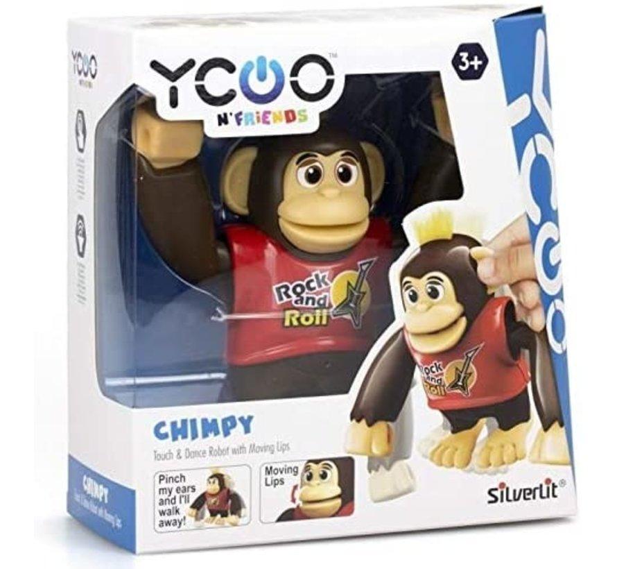YCOO - Chimpy the Monkey - Rood - 88564 - Interactief