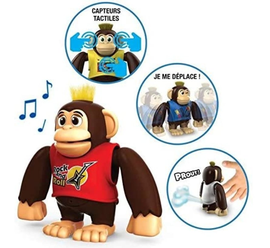 YCOO - Chimpy the Monkey - Wit - 88564 - Interactief