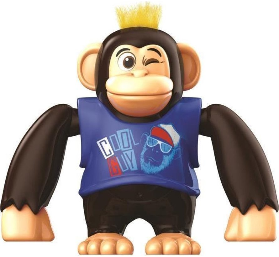 YCOO - Chimpy the Monkey - Blauw - 88564 - Interactief