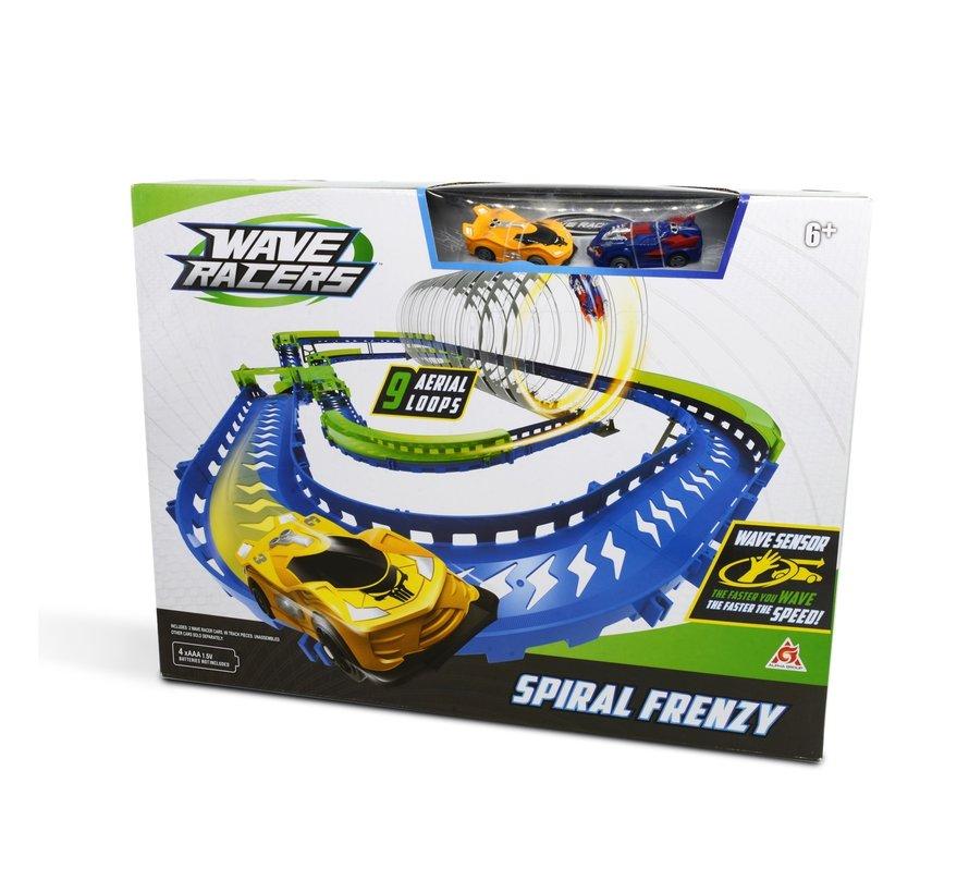 Spiral Frenzy Speedway - Racebaan - 9 Loopings - 2 Auto's - 99 Delig