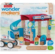 Fisher Price Wonder Makers - Postkantoor - Houten Bouwset - 35+ Delige set