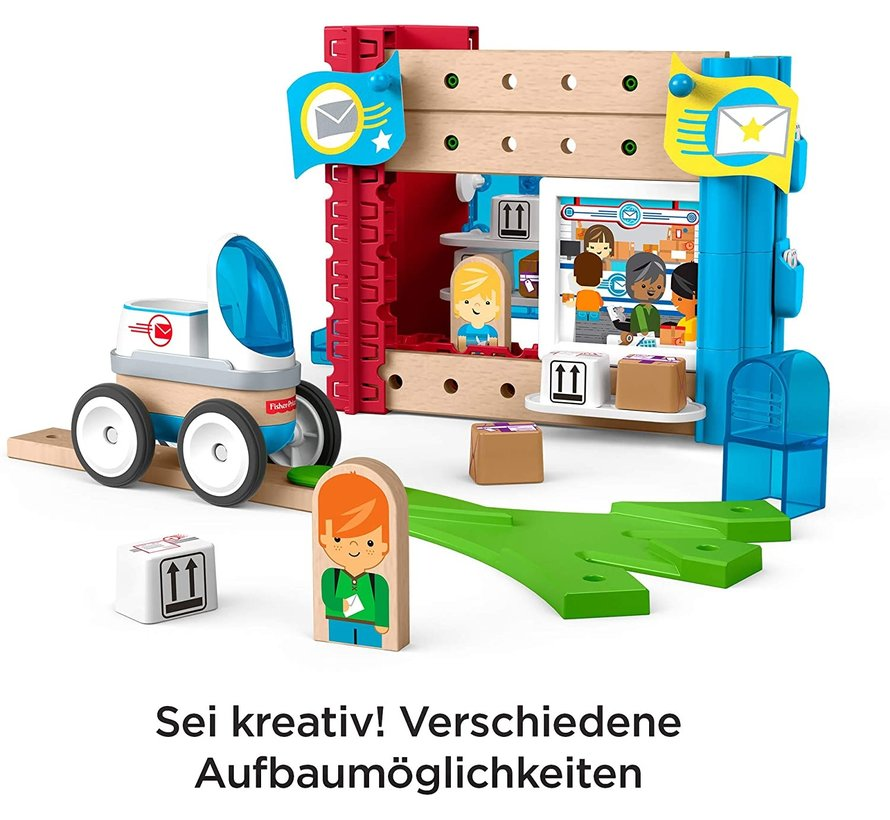 Wonder Makers - Postkantoor - Houten Bouwset - 35+ Delige set