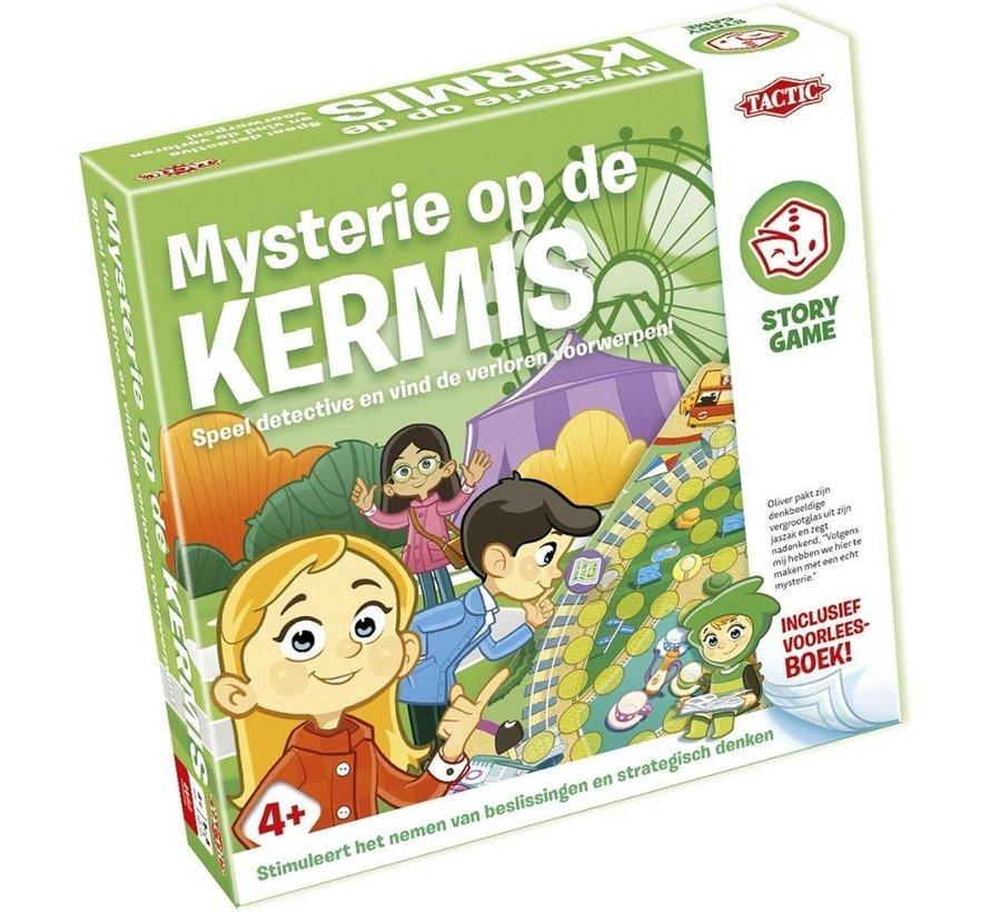 Story Game - Mysterie op de Kermis - Kinderspel - Inclusief voorleesboek
