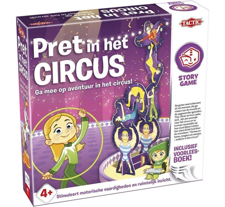 Story Game - Pret in het Circus - Kinderspel - Inclusief voorleesboek