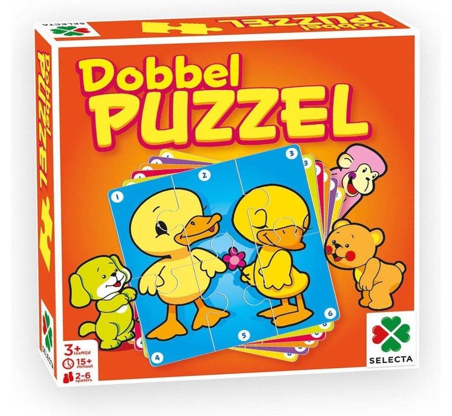 Dobbel Puzzel - Kinderspel - 6 puzzels - Vanaf 3 jaar