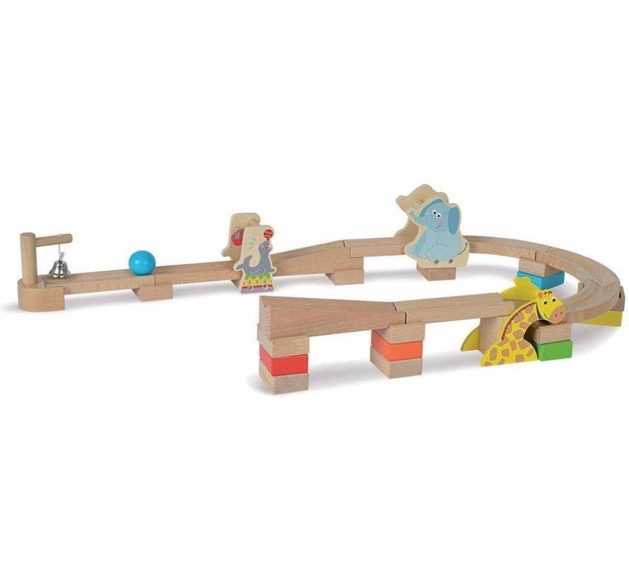 Marble Run - 30-Delige houten knikkerbaan
