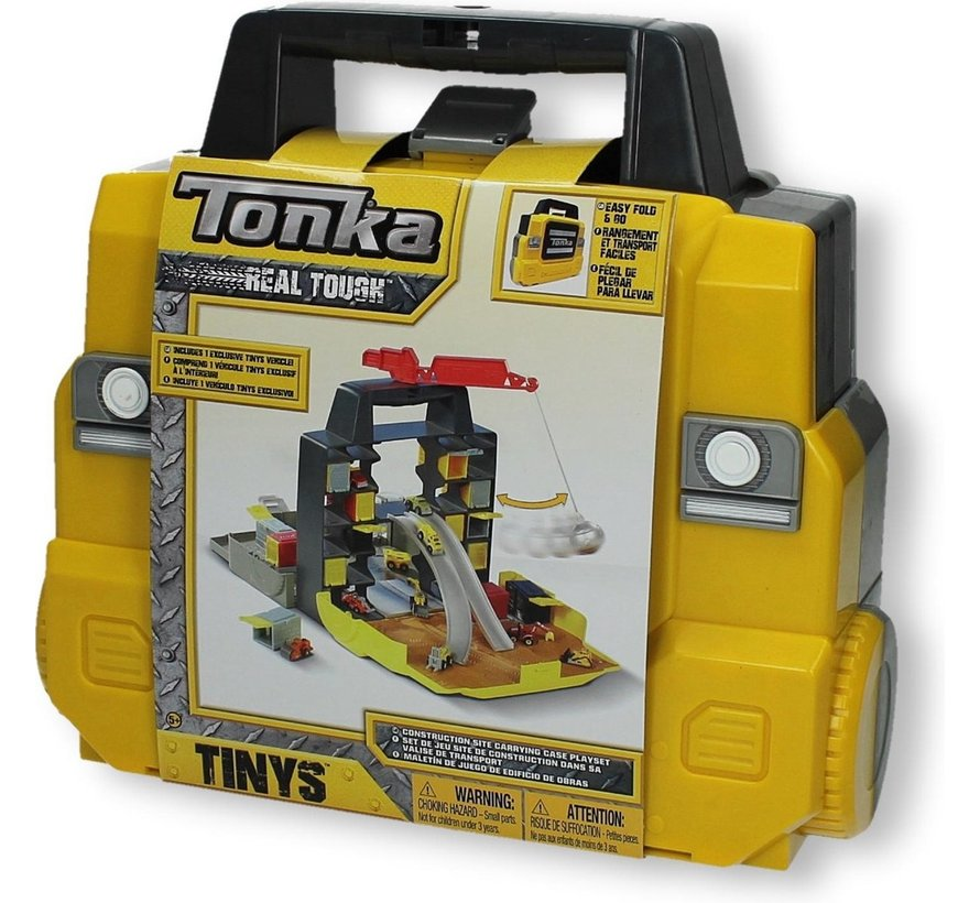 Speelkoffer inklapbaar met een auto - Bouwplaats