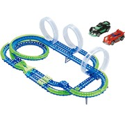 Wave Racers Mega Match Speedway - Racebaan - 3 Loopings - 2 Auto's - 86 Delig