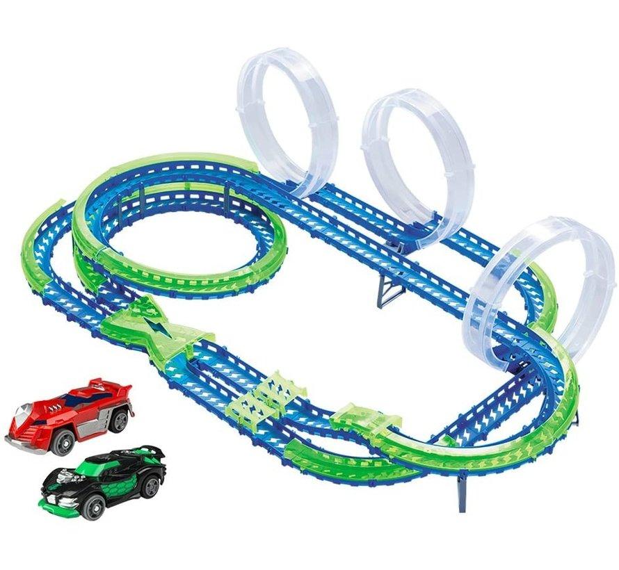 Mega Match Speedway - Racebaan - 3 Loopings - 2 Auto's - 86 Delig