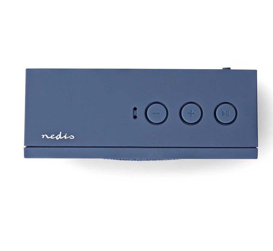 Bluetooth Speaker - Vierkant  - 9W - Blauw - Oplaadbaar