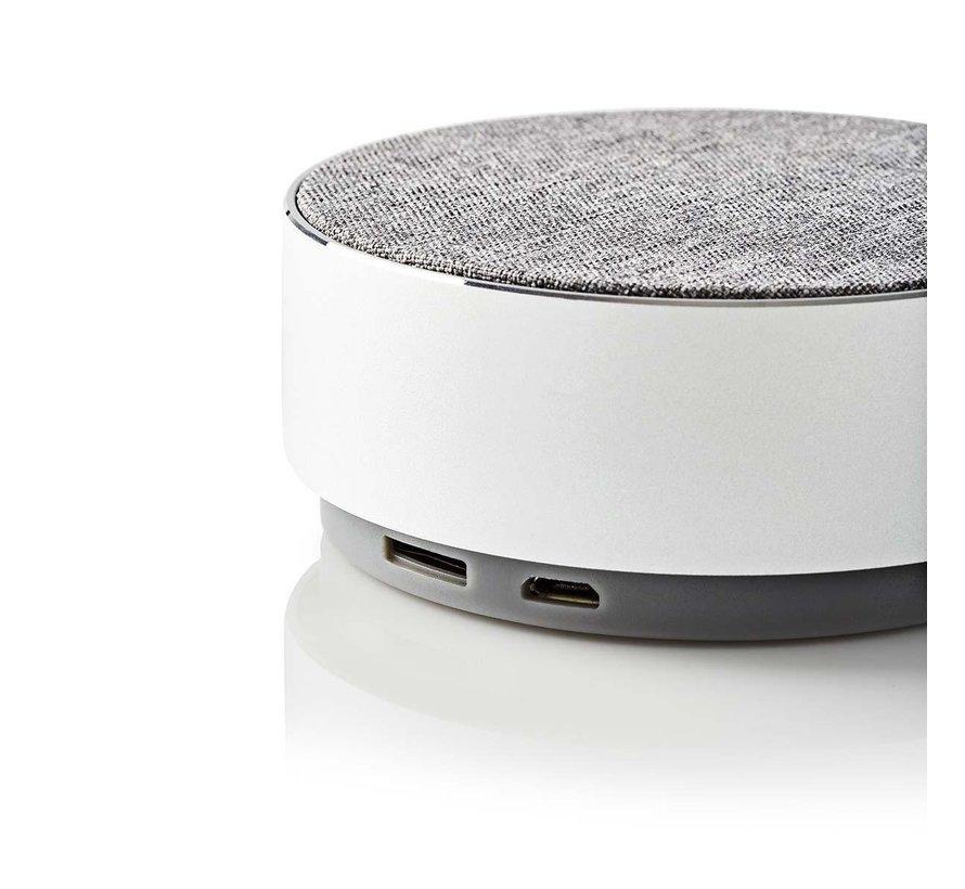Design Bluetooth Speaker Metaal - Rond  - 9W - Wit - Oplaadbaar