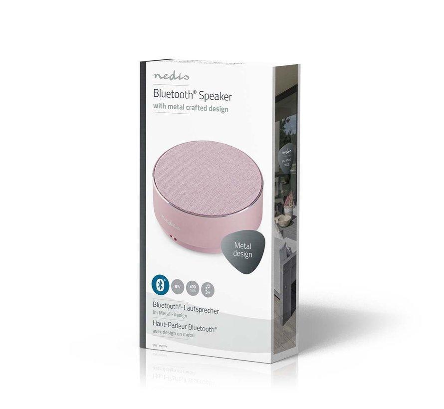 Design Bluetooth Speaker Metaal - Rond - 9W - Roze - Oplaadbaar