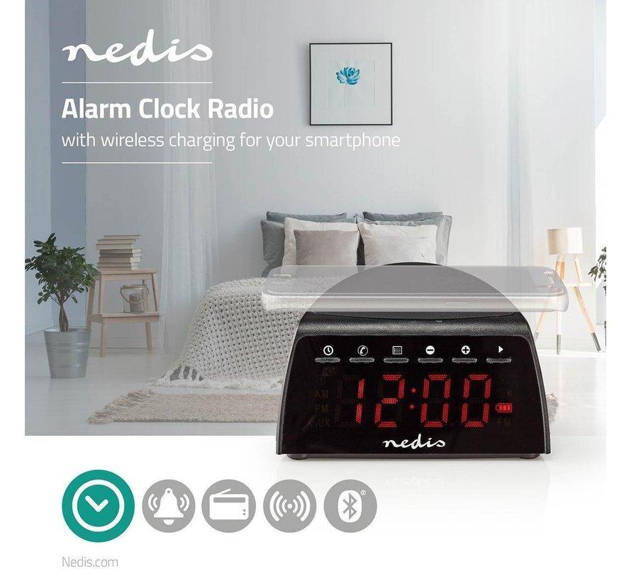 Digitale Wekkerradio - Draadloos Telefoon Opladen - FM - Bluetooth Radio