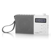 Nedis Portable FM radio klok - Wekker - oplaadbaar - PPL - 2,1W - grijs/wit