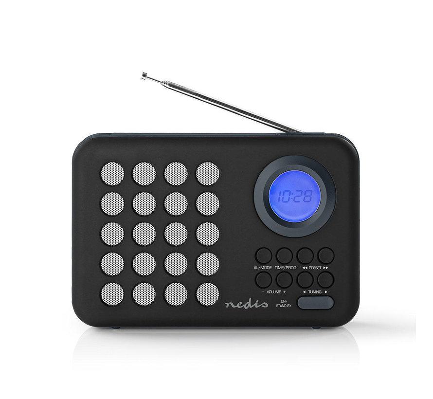 FM radio klok - Wekker - PPL - 3W - zwart/grijs - MicroSD + USB